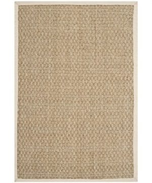 Safavieh Natural Fiber Collection NF114J Handmade Natural And Ivory Seagrass Area Rug 2 Feet By 3 Feet 2 X 3 0 300x360
