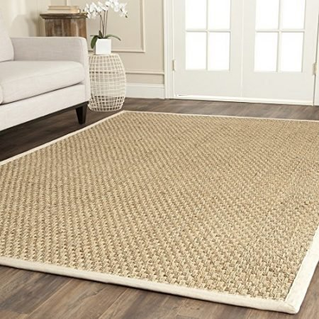 Safavieh-Natural-Fiber-Collection-NF114J-Handmade-Natural-and-Ivory-Seagrass-Area-Rug-6-feet-by-9-feet-6-x-9-0-450x450 Beach Rugs and Beach Area Rugs
