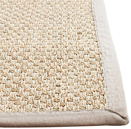 Safavieh Natural Fiber Collection NF114P Handmade Natural And Grey Seagrass Area Rug 5 Feet By 8 Feet 5 X 8 0 0