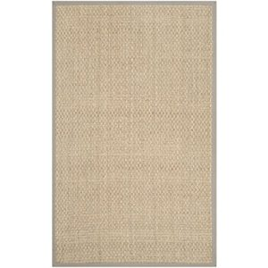 Safavieh Natural Fiber Collection NF114P Handmade Natural And Grey Seagrass Area Rug 5 Feet By 8 Feet 5 X 8 0 1 300x300