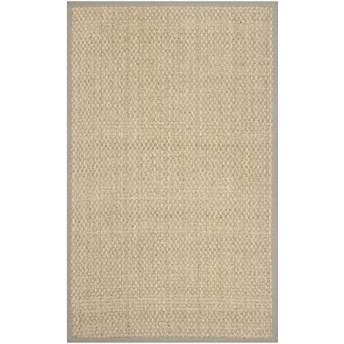 Safavieh Natural Fiber Collection NF114P Handmade Natural And Grey Seagrass Area Rug 5 Feet By 8 Feet 5 X 8 0 1