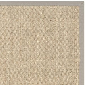Safavieh Natural Fiber Collection NF114P Handmade Natural And Grey Seagrass Area Rug 5 Feet By 8 Feet 5 X 8 0 2 300x300