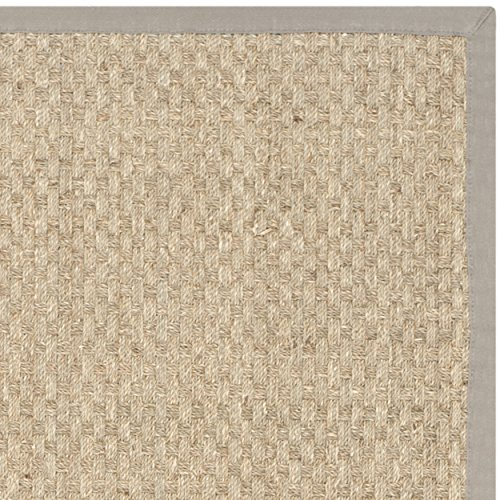 Safavieh Natural Fiber Collection NF114P Handmade Natural And Grey Seagrass Area Rug 5 Feet By 8 Feet 5 X 8 0 2