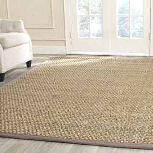 Safavieh Natural Fiber Collection NF114P Handmade Natural And Grey Seagrass Area Rug 5 Feet By 8 Feet 5 X 8 0 300x300