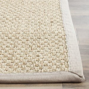 Safavieh Natural Fiber Collection NF114P Handmade Natural And Grey Seagrass Area Rug 5 Feet By 8 Feet 5 X 8 0 4 300x300