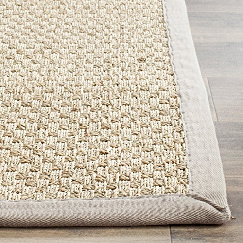 Safavieh Natural Fiber Collection NF114P Handmade Natural And Grey Seagrass Area Rug 5 Feet By 8 Feet 5 X 8 0 4