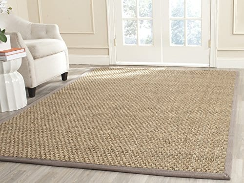 Safavieh Natural Fiber Collection NF114P Handmade Natural And Grey Seagrass Area Rug 5 Feet By 8 Feet 5 X 8 0