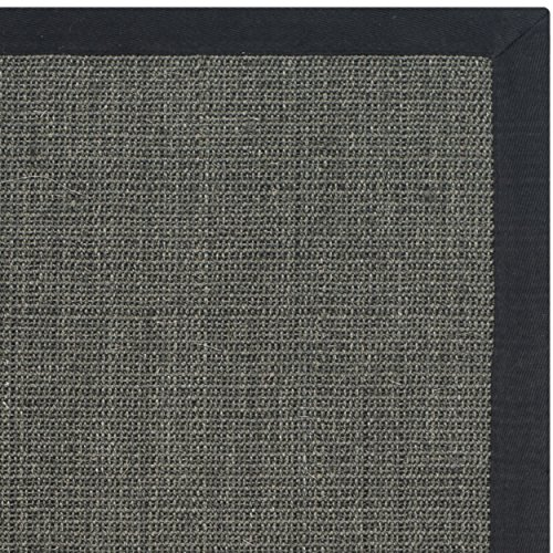 Safavieh Natural Fiber Collection NF441D Handmade Charcoal And Charcoal Sisal Area Rug 2 Feet 6 Inches By 4 Feet 26 X 4 0 0