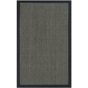Safavieh Natural Fiber Collection NF441D Handmade Charcoal And Charcoal Sisal Area Rug 2 Feet 6 Inches By 4 Feet 26 X 4 0 300x300