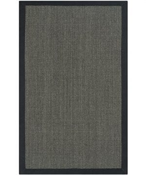 Safavieh Natural Fiber Collection NF441D Handmade Charcoal And Charcoal Sisal Area Rug 2 Feet 6 Inches By 4 Feet 26 X 4 0 300x360