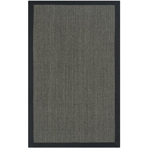 Safavieh Natural Fiber Collection NF441D Handmade Charcoal And Charcoal Sisal Area Rug 2 Feet 6 Inches By 4 Feet 26 X 4 0