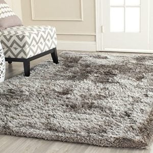 Safavieh South Beach Shag Collection SBS562B Handmade Silver Square Area Rug 6 Feet Square 6 Square 0 300x300
