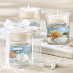 Seashell Gel Tealight Holder With Palm Wax 0 300x300