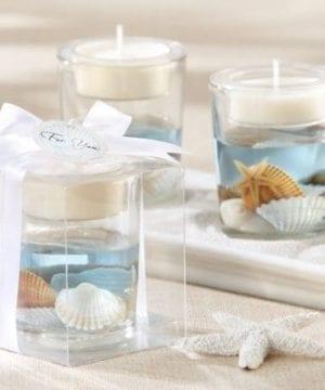 Seashell Gel Tealight Holder With Palm Wax 0 300x360