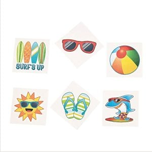 Summer Beach Luau Party Temporary Tattoo Favors 72 Ct 0 300x300