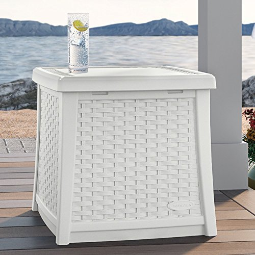 Suncast ELEMENTS End Table With Storage 0 0