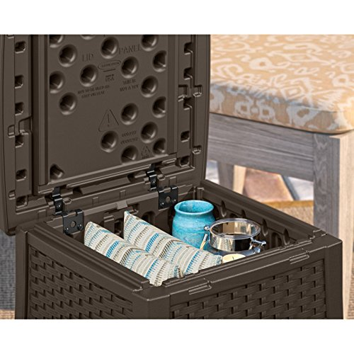 Suncast ELEMENTS End Table With Storage 0 2