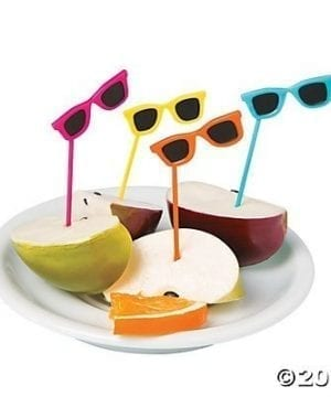 Sunglasses Food Cupcake Picks 72 Pcs 0 300x360