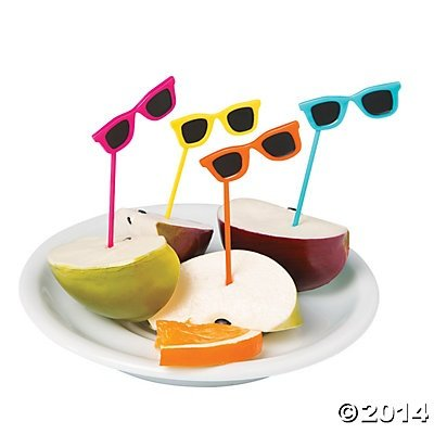 Sunglasses Food Cupcake Picks 72 Pcs 0