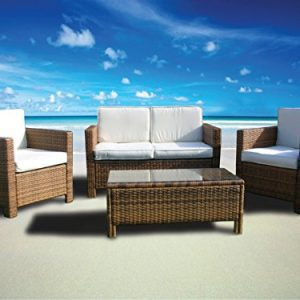 The Miami Beach Collection 4 Pc Outdoor Rattan Wicker Sofa Sectional Patio Furniture Set Choice Of Set Cushion Color 0 0 300x300