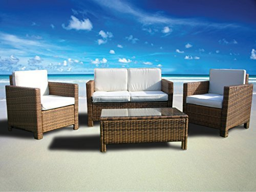 The Miami Beach Collection 4 Pc Outdoor Rattan Wicker Sofa Sectional Patio Furniture Set Choice Of Set Cushion Color 0 0