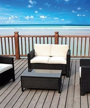 The Miami Beach Collection 4 Pc Outdoor Rattan Wicker Sofa Sectional Patio Furniture Set Choice Of Set Cushion Color 0 1 300x360