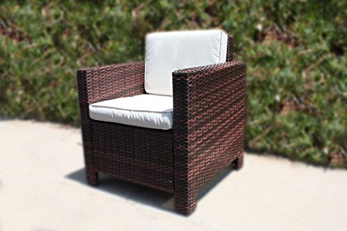 The Miami Beach Collection 4 Pc Outdoor Rattan Wicker Sofa Sectional Patio Furniture Set Choice Of Set Cushion Color 0 3