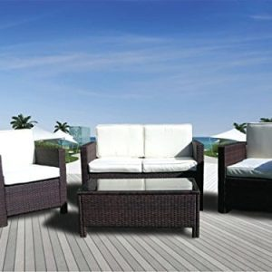 The Miami Beach Collection 4 Pc Outdoor Rattan Wicker Sofa Sectional Patio Furniture Set Choice Of Set Cushion Color 0 300x300