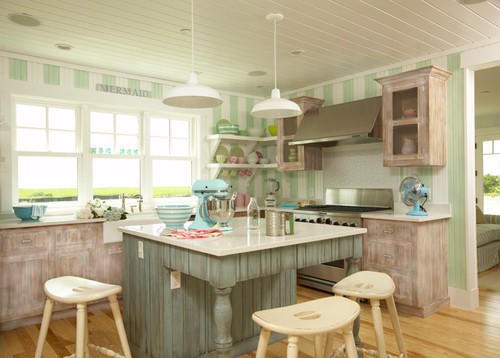 beach-style-kitchen-for-cottage-home-5 100+ Beach Cottage Decor Ideas
