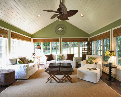 traditional-sunroom-cottage-beach-home-2 100+ Beach Cottage Decor Ideas