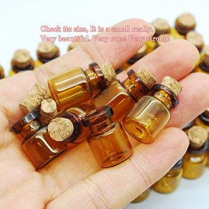 06ml Dark Brown Cute Strong Miniature Glass Bottle With Corks Tiny Glass Bottles Small Bottles Great For Jewelry Making Altered Art Miniature Art Etc 0 3 300x300