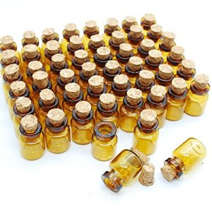 06ml Dark Brown Cute Strong Miniature Glass Bottle With Corks Tiny Glass Bottles Small Bottles Great For Jewelry Making Altered Art Miniature Art Etc 0 300x300