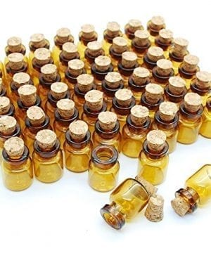06ml Dark Brown Cute Strong Miniature Glass Bottle With Corks Tiny Glass Bottles Small Bottles Great For Jewelry Making Altered Art Miniature Art Etc 0 300x360