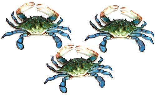 14 6-inch-Maryland-Blue-Crab-Set-of-3-Beach-Tiki-Bar-Wall-Decor-0