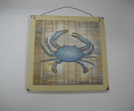 11 Blue-Crab-Beach-House-Wooden-Wall-Art-Sign-Bathroom-Art-0