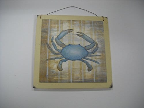 11 Blue-Crab-Beach-House-Wooden-Wall-Art-Sign-Bathroom-Art-0