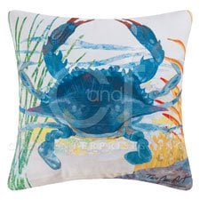 Blue-Crab-Decorator-Pillow-Indoor-Outdoor-Use-0 100+ Coastal Throw Pillows & Beach Throw Pillows