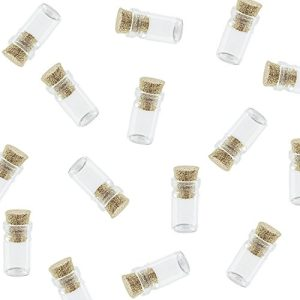 Mini Tiny Clear Glass Jars Bottles With Cork Stoppers For Arts Crafts Projects Decoration Party Favors Size 18mm X 10mm Diameter 50 Pack By Super Z Outlet 0 300x300