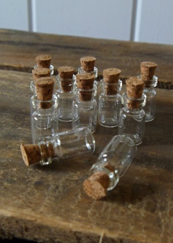Miniature-Glass-Bottle-with-Cork-10 Large & Small Glass Bottles With Cork Toppers