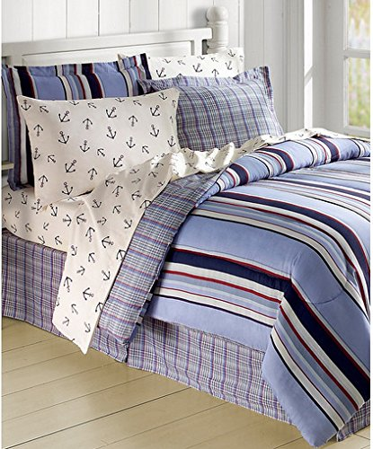 sailboat-anchor-nautical-bed-in-a-bag Coastal Bedding In A Bag