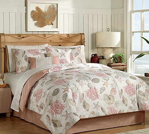 seashells-with-pink-coral-beach-bed-in-a-bag-11 Coastal Bedding In A Bag