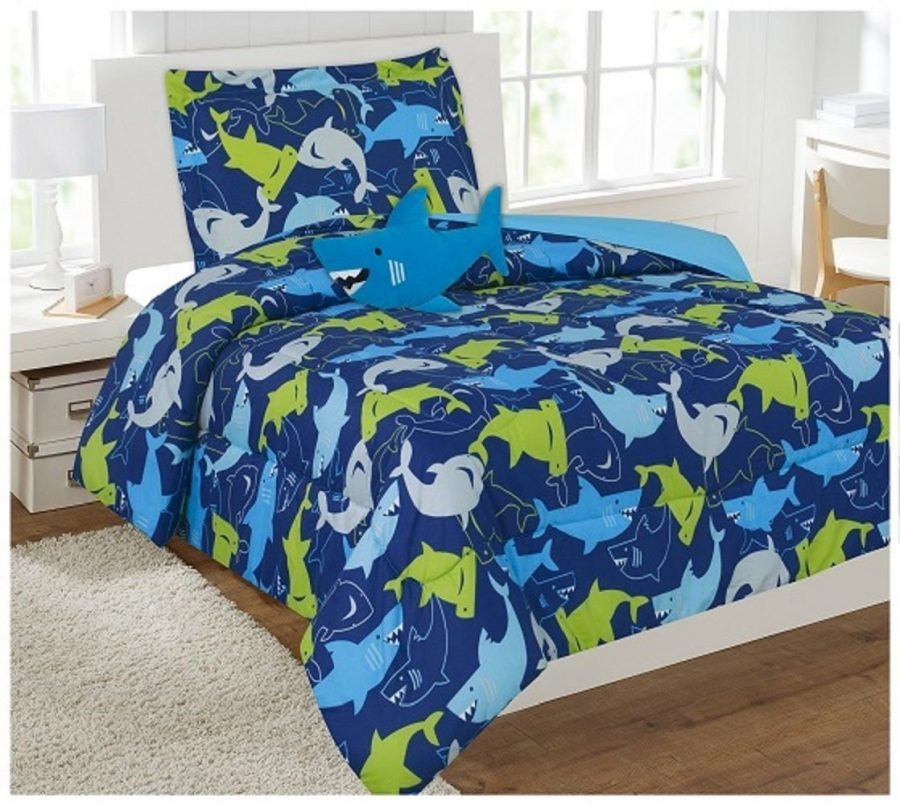 shark-comforter-set-bed-in-a-bag Coastal Bedding In A Bag