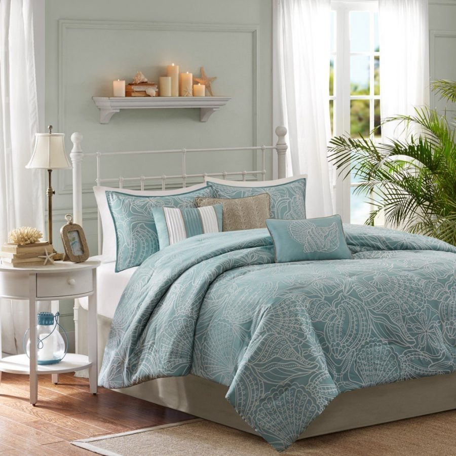 soft-blue-seashell-bed-in-a-bag Coastal Bedding In A Bag