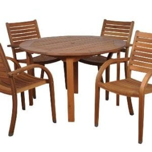 Amazonia Arizona 5 Piece Eucalyptus Round Dining Set 0 300x300