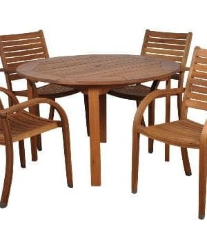 Amazonia-Arizona-5-Piece-Eucalyptus-Round-Dining-Set-0-300x337 Best Teak Patio Furniture Sets