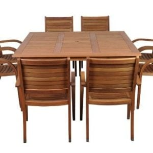Amazonia Arizona 9 Piece Eucalyptus Square Dining Set 0 300x300