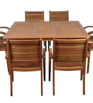 Amazonia-Arizona-9-Piece-Eucalyptus-Square-Dining-Set-0-300x333 Best Teak Patio Furniture Sets
