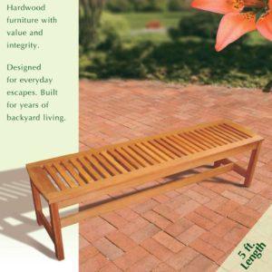 Arboria 8801079 Serenity Backless Bench 0 1 300x300