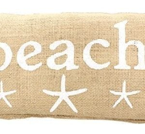 BEACH-French-Country-Burlap-Accent-Pillow-White-Print-with-Starfish-6-in-x-12-in-0-300x276 100+ Coastal Throw Pillows & Beach Throw Pillows