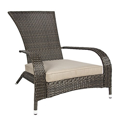 Best ChoiceProducts Wicker Adirondack Chair Patio Porch Deck Furniture Outdoor All Weather Proof 0 3